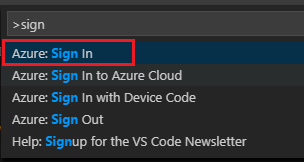 HDInsight Tools for Visual Studio Code log in